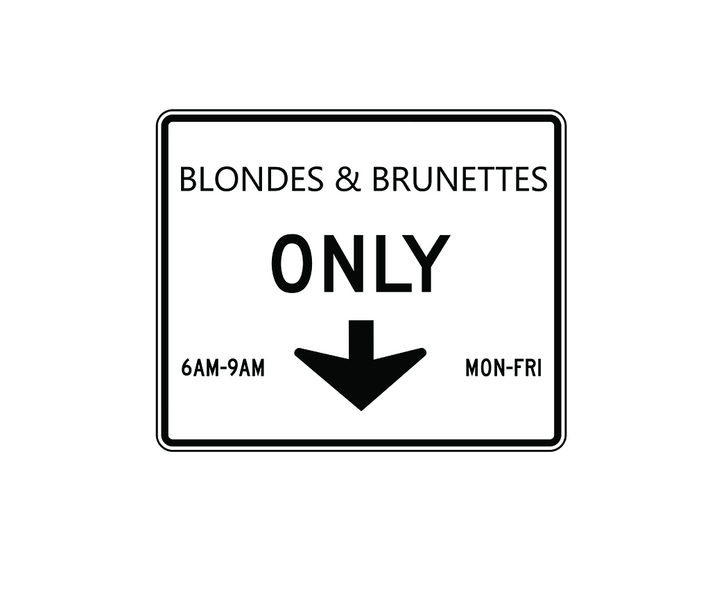BLONDE AND BRUNETS ONLY MAJICA